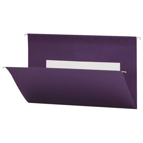 Smead Flex-I-Vision Coloured Hanging Folder (SMD64486) - Legal - 25 Pack - Purple