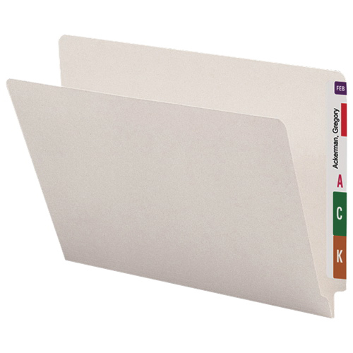 Smead Single Ply End Tab Shelf File Folders (SMD24506) - Letter - 100 Pack - Ivory