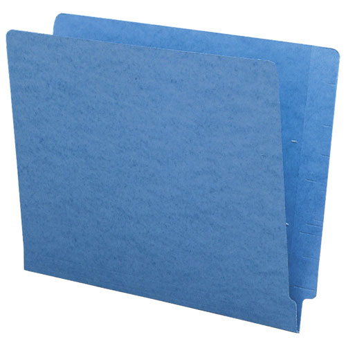 Smead Shelf-Master Coloured Two-Ply End Tab Folder (SMD25010) - Letter - 100 Pack - Blue