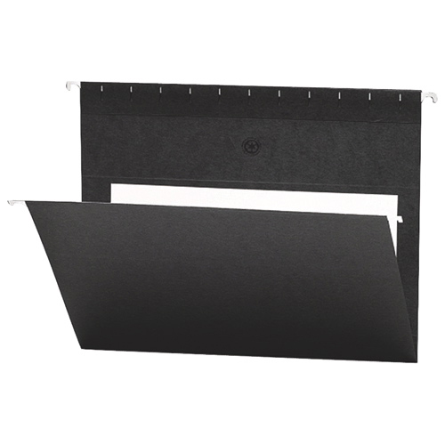 Smead Flex-I-Vision Coloured Hanging Folder (SMD64427) - Letter - 25 Pack - Black