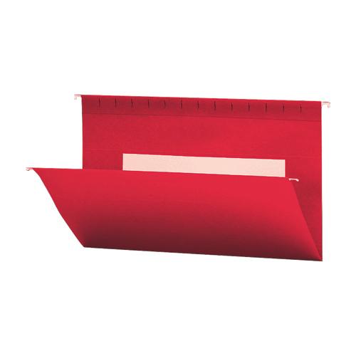 Chemise suspendue de couleur Flex-I-Vision de Smead (SMD64488) - Juridique - Paquet de 25 - Rouge