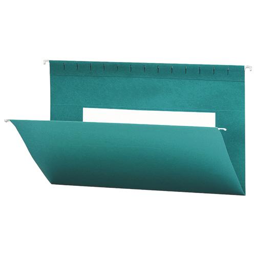 Smead Flex-I-Vision Coloured Hanging Folder (SMD64490) - Legal - 25 Pack - Teal