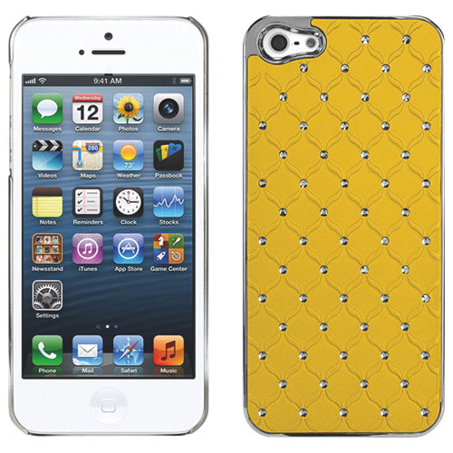Étui rigide Lux Diamond Proguard de Cellet pour iPhone 5/5s - Jaune