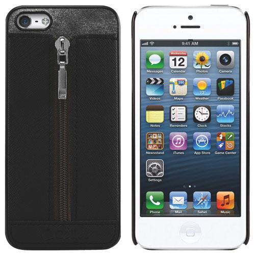 Étui-coque souple Zipper de Cellet pour iPhone 5/5s - Noir
