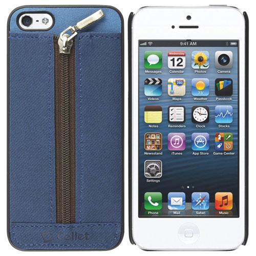 Étui souple Zipper de Cellet pour iPhone 5/5s - Bleu