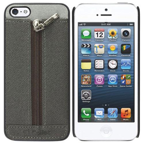 Étui-coque souple Zipper de Cellet pour iPhone 5/5s - Gris