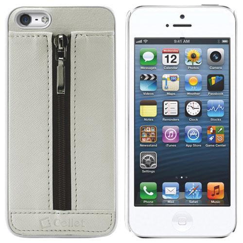 Cellet Zipper iPhone 5/5s Soft Shell Case - White