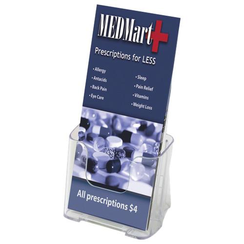 Support à brochure de Deflect-o (DEF77501) - Transparent