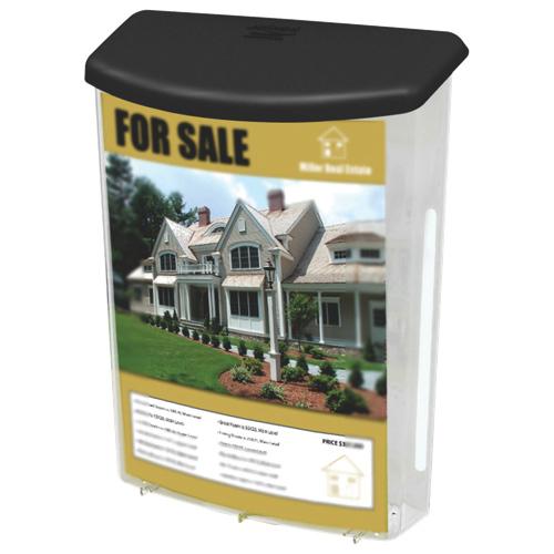 Deflect-o Outdoor Literature Box (DEF790901) - Grey