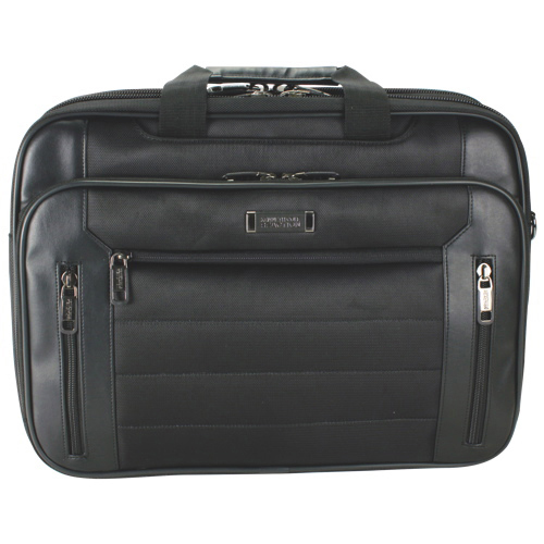 "Kenneth Cole EZ Scan 17.3"" Laptop Messenger Bag (KC53845502) - Black"