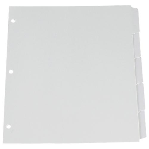 Esselte Plain Tab Loose Leaf Index Dividers (ESS213-5W/1) - Letter - 5 Pack