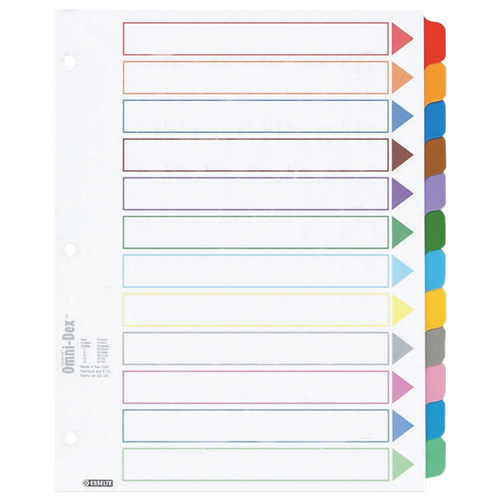 Esselte Colour Coded Index Divider (ESS24120) - Letter