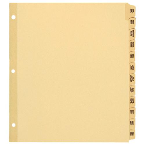 Séparateur Oxford avec onglet préimprimé d'Esselte (ESS10079) - « Janv. à déc. » - Format lettre