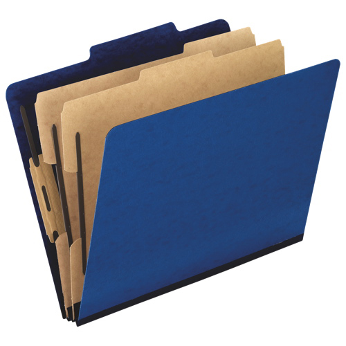 Esselte Pendaflex PressGuard Classification Folders (ESS1257-BL) - Letter - 10 Pack - Blue