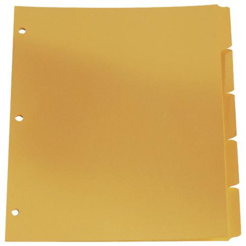 Esselte Plain Tab Loose Leaf Index Dividers (ESS213-5B/1) - Letter - 5 Pack