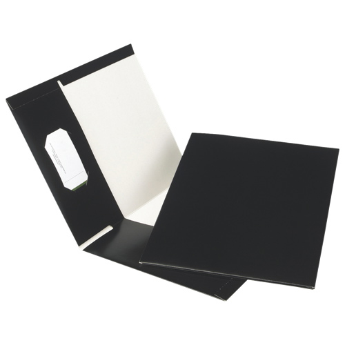 Esselte Pocket Folder (ESSPPF-DBD/B) - Letter - 25 Pack - Black
