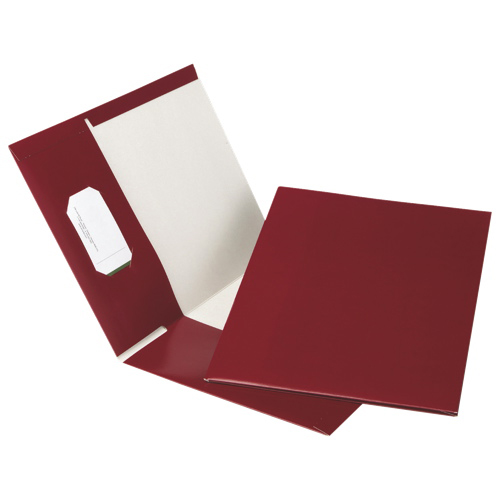 Esselte Recycled Hi-Gloss Two-Pocket Folder (ESSPPF-DBU/B) - Letter - 25 Pack - Burgandy
