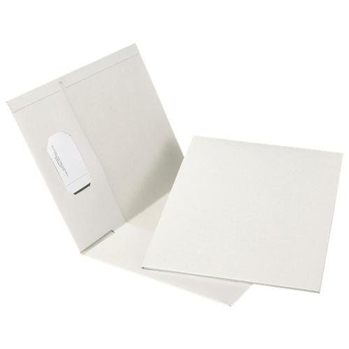Esselte Recycled Hi-Gloss Two-Pocket Folder (ESSPPF-DBZ/B) - Letter - 25 Pack - White