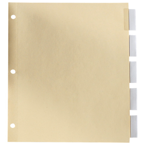 Esselte Insertable Index Tab (ESSR213-5C) - Letter - 5 Pack - Clear