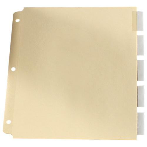 Esselte Loose Leaf Index Tab (ESSR215-5C) - 5 Pack - Clear