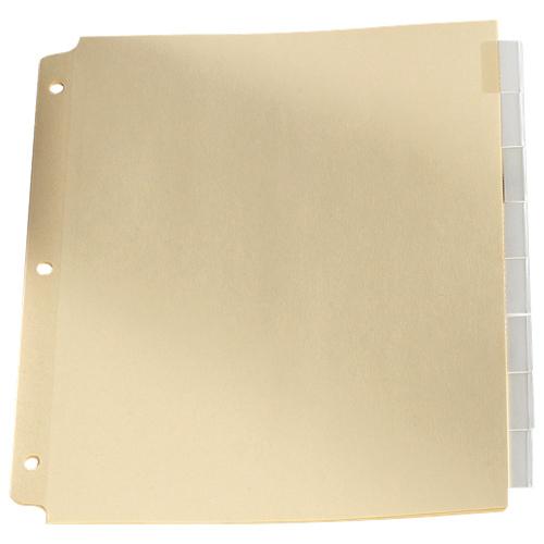 Intercalaires avec onglet d'Esselte (ESSR215-8C) - Paquet de 8 - Transparent