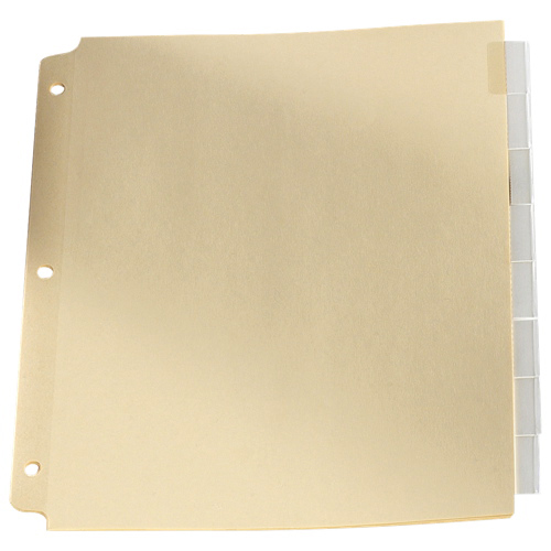 Esselte Loose Leaf Index Tab (ESSR215-8C) - 8 Pack - Clear