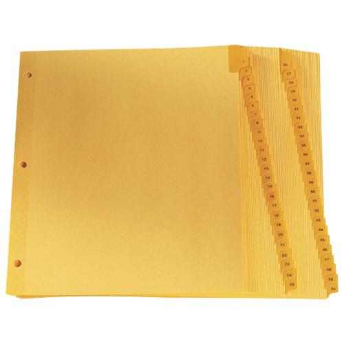 Esselte Preprinted Lamin Tab Index Divider (ESSCR213-50N) - Letter - 50 Pack - Buff
