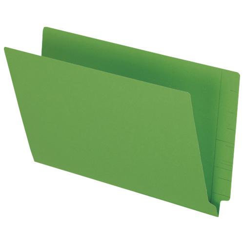 Esselte Coloured End Tab Folder (ESSH210DGR) - Legal - 50 Pack - Green