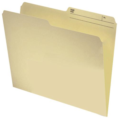 Chemise réversible à onglet supérieur d'Esselte (ESSR409) - Lettre - Paquet 100 - Papier manille