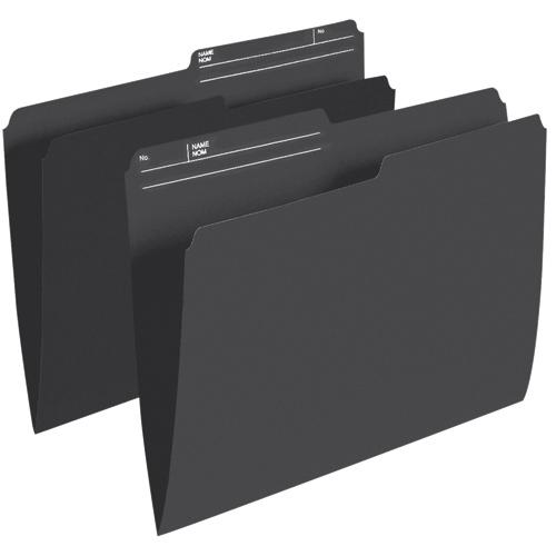 Esselte Single Top Verticle File Folder (ESSR415-BLK) - Letter - 100 Pack - Black