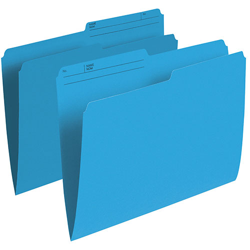 Esselte Single Top Verticle File Folder (ESSR415-BLU) - Letter - 100 Pack - Blue