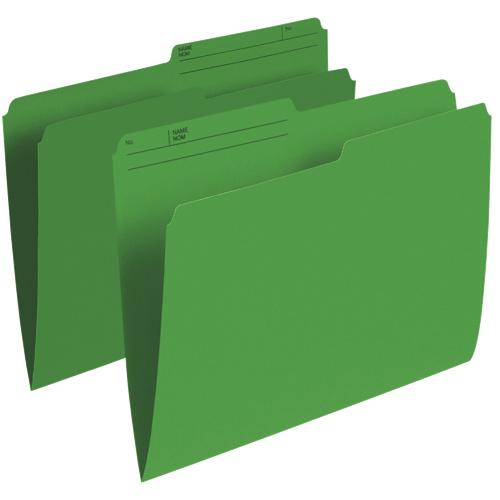 Chemises verticales à onglet supérieur d'Esselte (ESSR415-GRN) - Lettre - Paquet de 100 - Vert