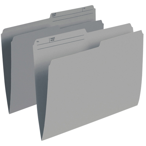 Esselte Single Top Verticle File Folder (ESSR415-GRY) - Letter - 100 Pack - Grey