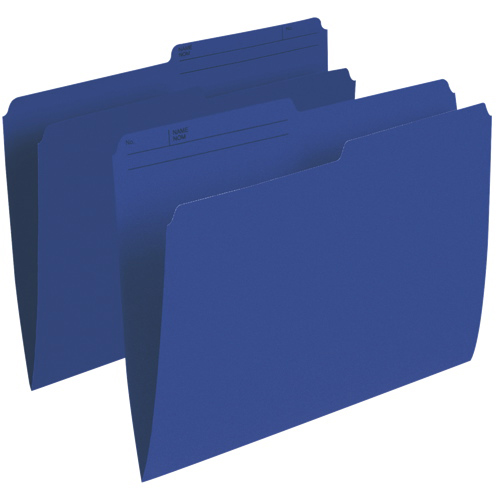 Chemises verticales à onglet supérieur d'Esselte (ESSR415-NAV) - Lettre - 100 - Bleu marine