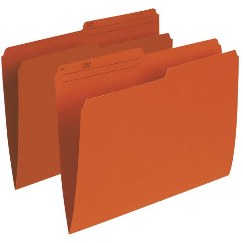 Esselte Single Top Verticle File Folder (ESSR415-ORG) - Letter - 100 Pack - Orange
