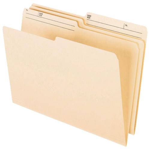 Esselte Reversible Top Tab File Folder (ESSR609) - Legal - 100 Pack - Manila