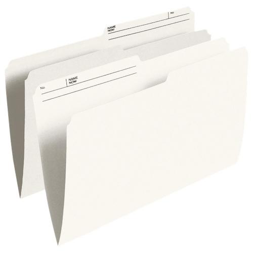 Esselte Reversible Top Tab File Folder (ESSR611) - Legal - 100 Pack - Ivory