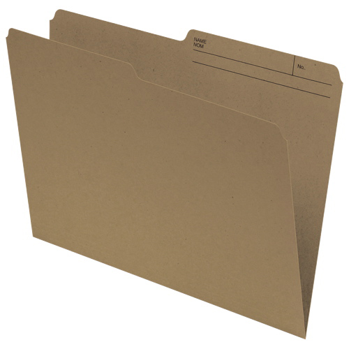 Chemise réversible à onglet supérieur d'Esselte (ESSR612) - Grand format - Paquet 100 - Kraft