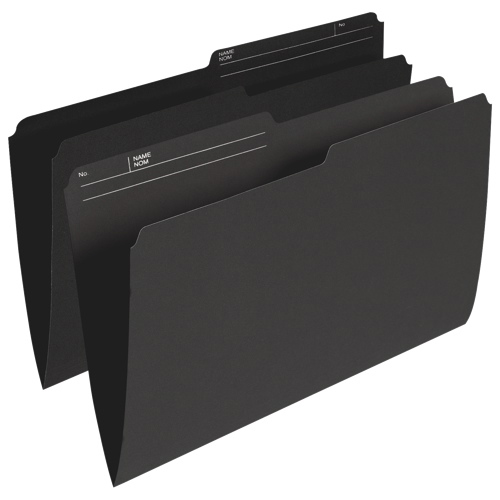 Esselte Single Top Verticle File Folder (ESSR615-BLK) - Legal - 100 Pack - Black
