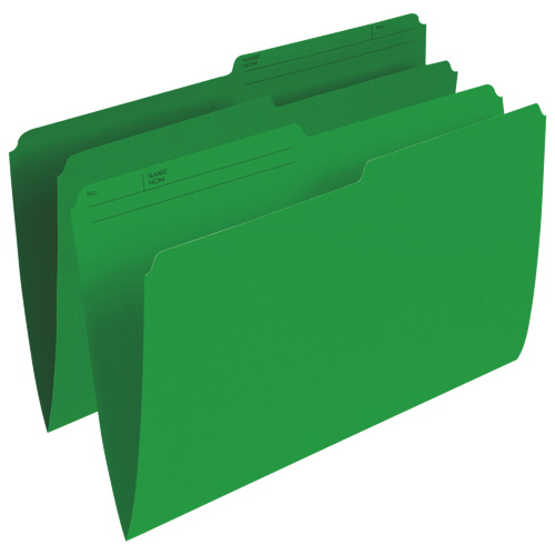 Esselte Single Top Verticle File Folder (ESSR615-GRN) - Legal - 100 Pack - Green