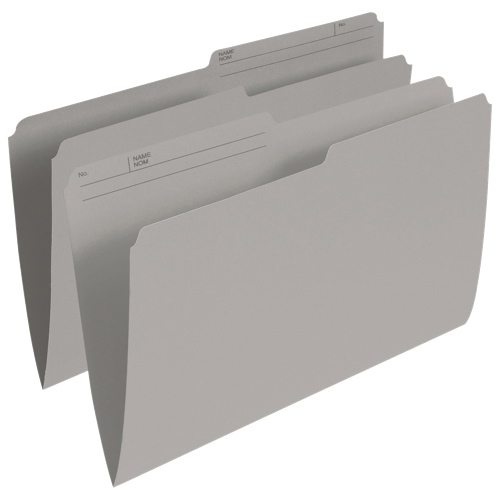 Esselte Single Top Verticle File Folder (ESSR615-GRY) - Legal - 100 Pack - Grey