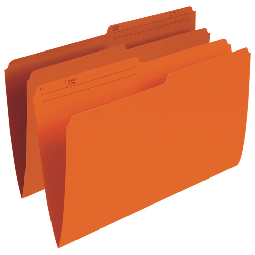 Chemise verticale à onglet supérieur d'Esselte (ESSR615-ORG) - Grand format - Paquet de 100 - Orange