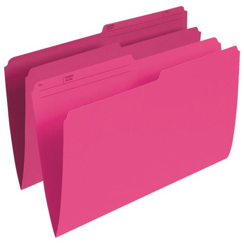 Esselte Single Top Verticle File Folder (ESSR615-PNK) - Legal - 100 Pack - Pink