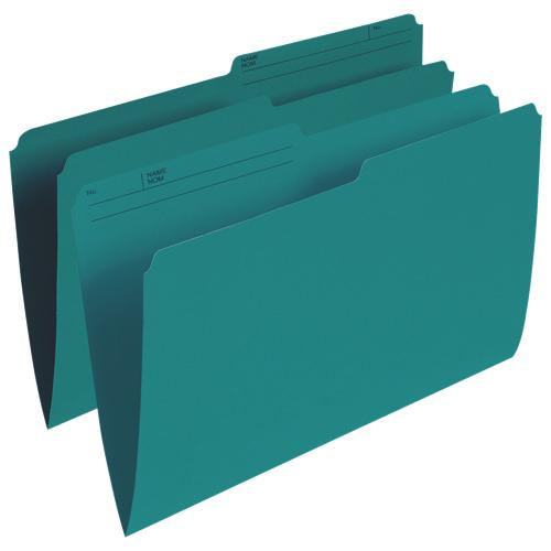 Esselte Single Top Verticle File Folder (ESSR615-TEA) - Legal - 100 Pack - Teal