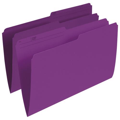 Chemises verticales à onglet supérieur d'Esselte (ESSR615-VIO) - Grand format - Paq. de 100 - Violet