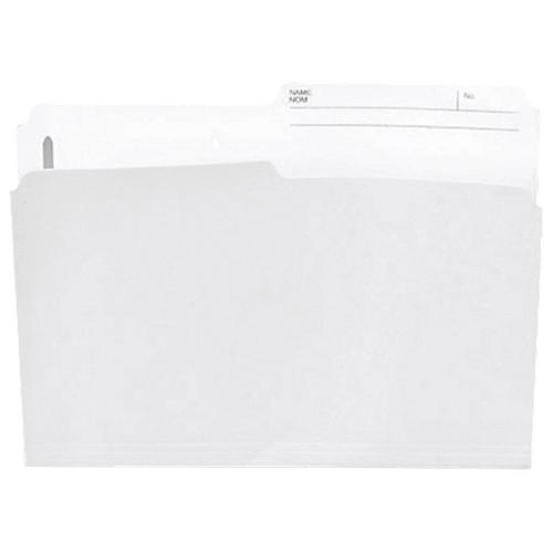Esselte Slimtrim Top Tab File Folder (ESSSTR413-RT) - Letter - 100 Pack - Ivory