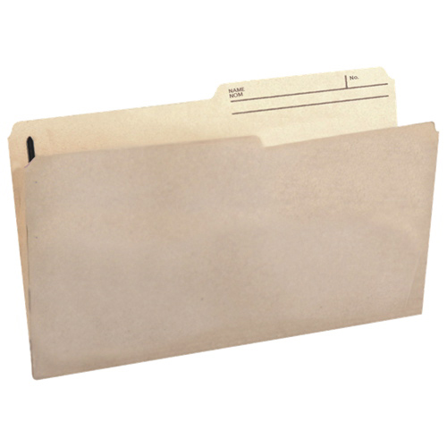 Esselte Slimtrim Top Tab File Folder (ESSSTR612-RT) - Legal - 100 Pack - Natural Sand