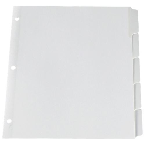Esselte Heavy-Duty Index Divider (ESSWR213-5W) - 5 Pack - White