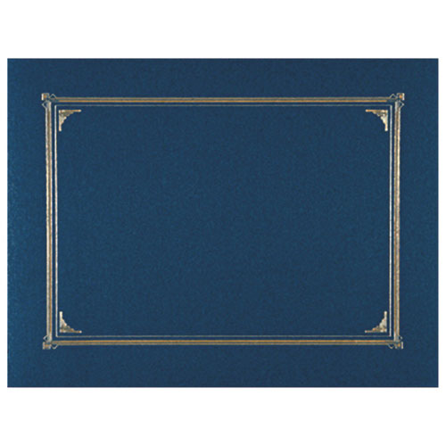 Geographics Linen Certificate Cover (GEO45332) - 6 Pack - Navy Blue
