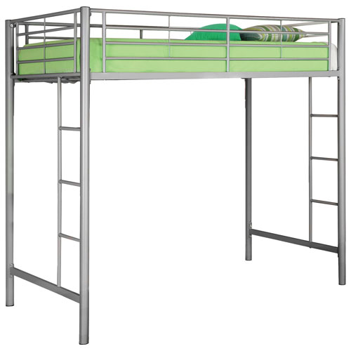 Contemporary Loft Bed Frame Twin Silver Best Buy Canada